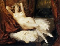 Female Nude Reclining On A Divan 1826