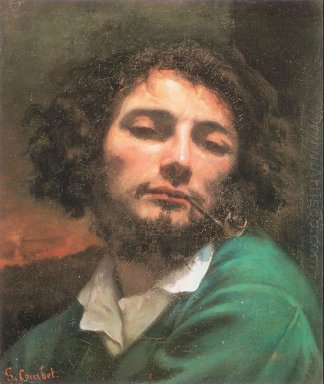 Self Portrait The Man With A Pipe 1849