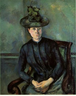 Woman In A Green Hat Aka Madame Cezanne