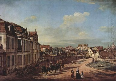 View Of The Square Of Zelazna Brama Warsaw 1779