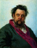 Portrait Of The Composer Modest Musorgsky 1881