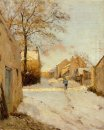 a village street in winter 1893
