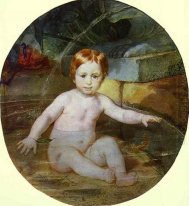 Child In A Swimming Pool Portrait Of Prince A G Gagarin In Child