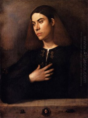 Portrait Of A Youth Antonio Broccardo 1500