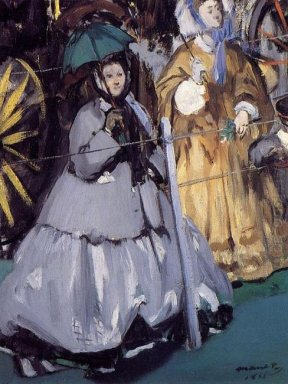 women at the races 1865