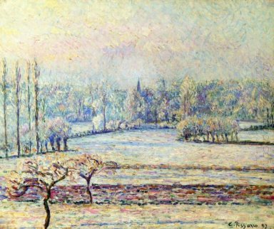 view of bazincourt frost morning 1892
