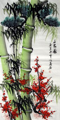 Bamboo(Three Friends of Winter) - Chinese Painting