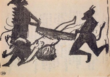 Devils Are Sawing Sinner 1914