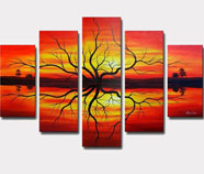 Warm Colors Canvas Sets
