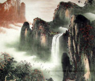 Waterfall peintures chinoises