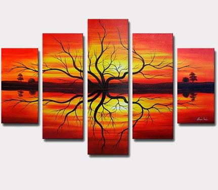 Collections sur toile magasiner par couleur - Couleurs chaudes en peinture ...