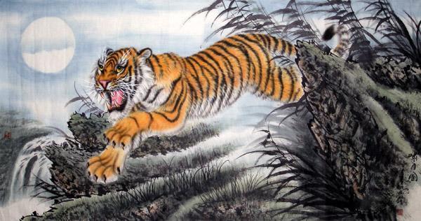 Ancient chinese tiger drawing - photo#3