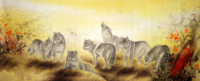 Chinese Wolf Painting