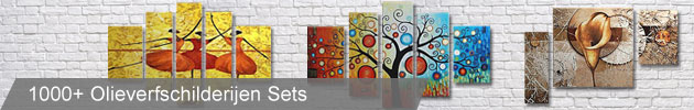 Olieverfschilderijen Canvas Sets