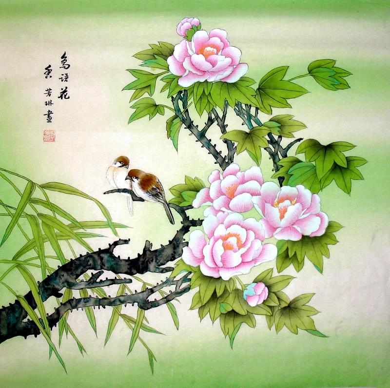 Chinese Painting: Birds&flowerse