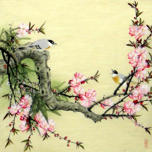 Chinese Painting: Birds-Flower