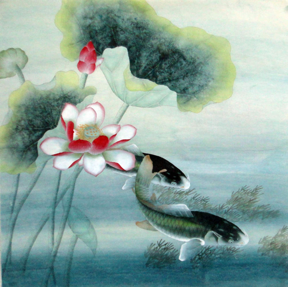 Chinese Painting: Fish - Chinese Painting CNAG232974 - Artisoo.com