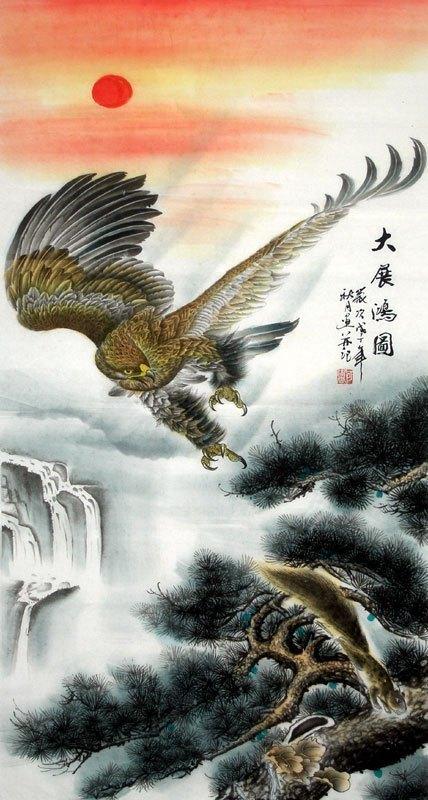 Lukisan Cina Elang Semi Petunjuk Lukisan Cina Cnag250491