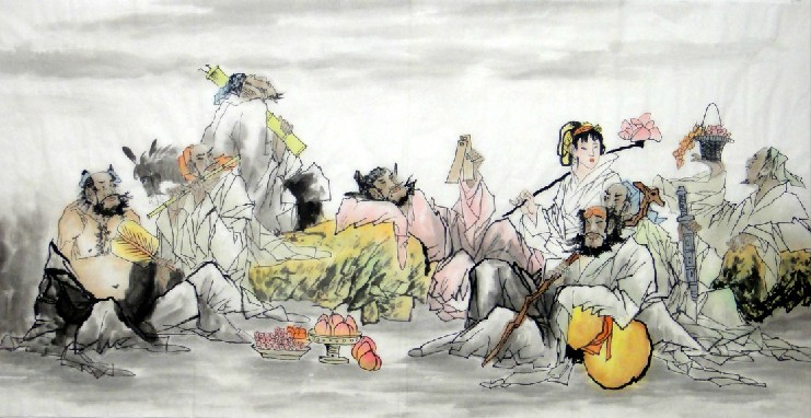 Chinese Eight Immortals Painting