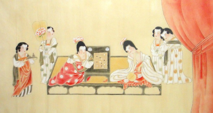 Beautiful Ladies-Chinese Painting