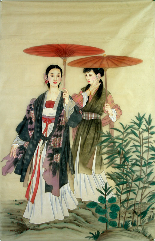Chinese Beautiful Ladies Painting