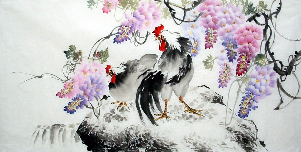 Chinese Cock Painting