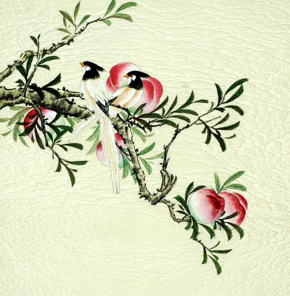 Chinese Peach Painting