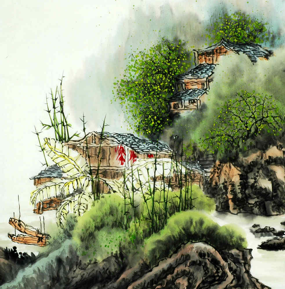 Chinese Mountain and Water Painting