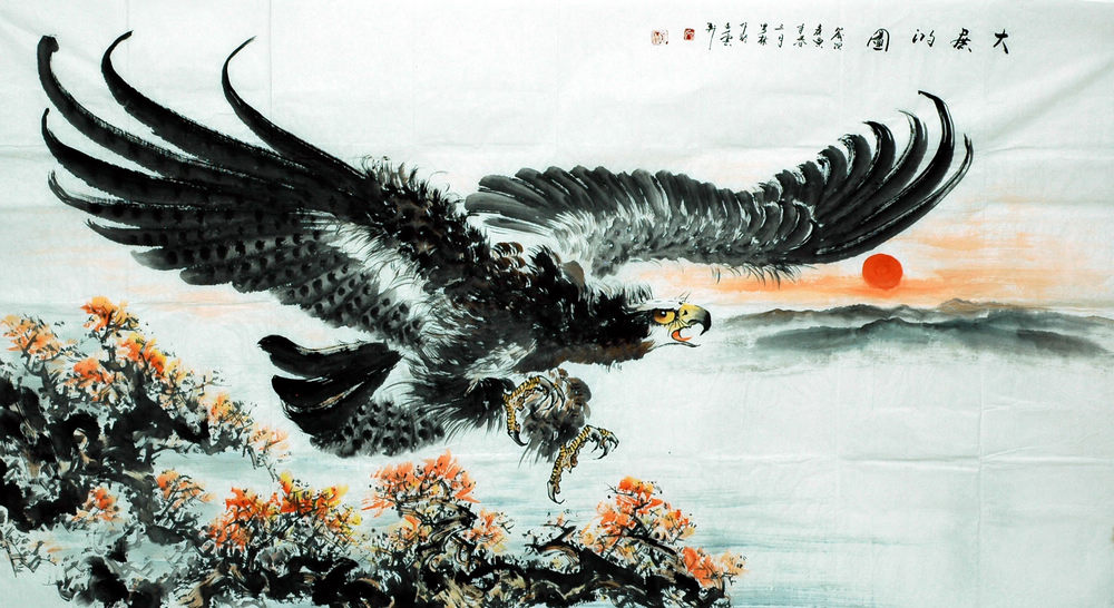 Chinese Eagle painting