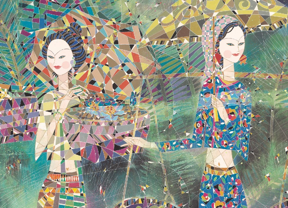 Beautiful Ladies&Horse - Chinese Painting