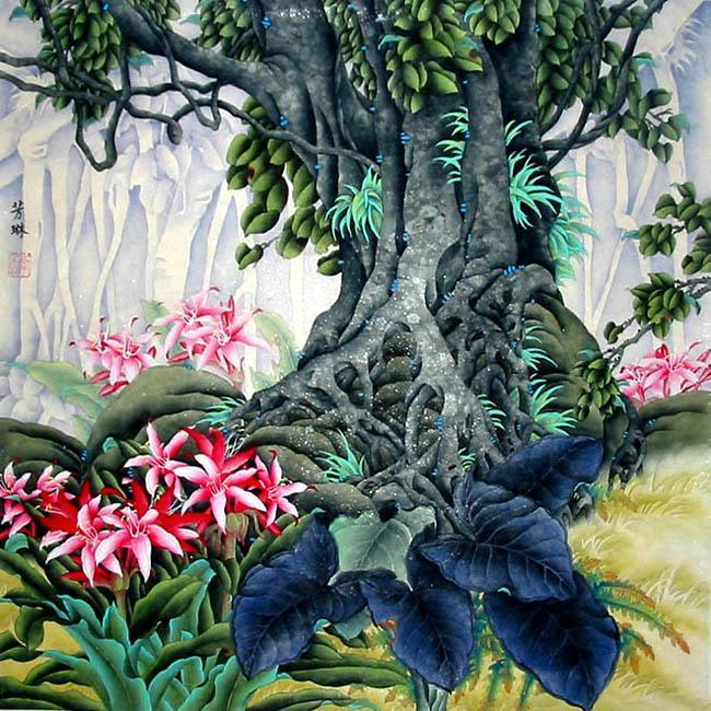 Chinese Painting: Flowers&Tree - Chinese Painting ...