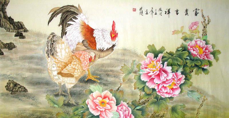 Chinese Animals-Chicken Painting