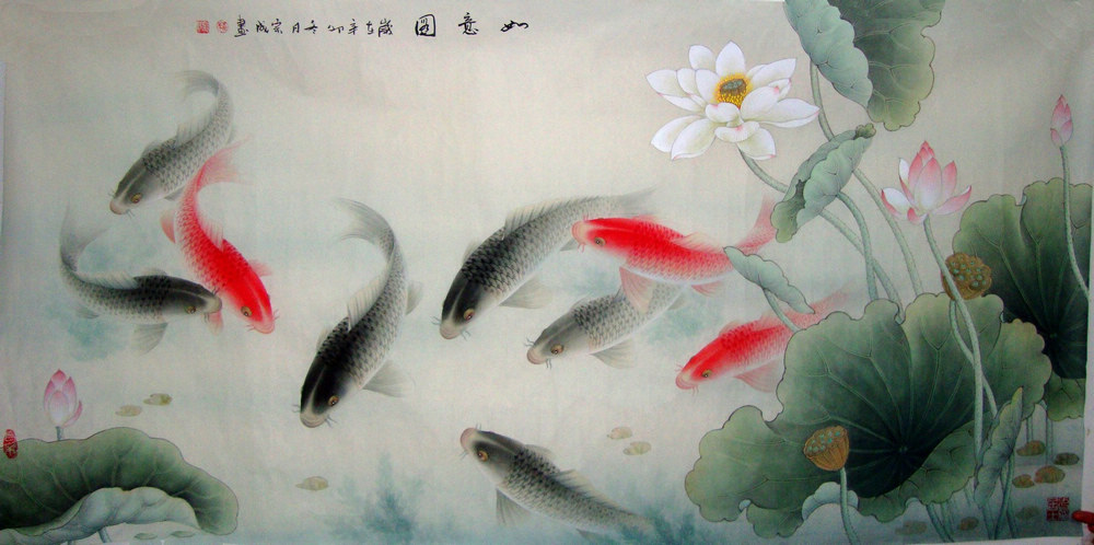 Free fish free chinese culture chinese painting blog for Chinese coy fish