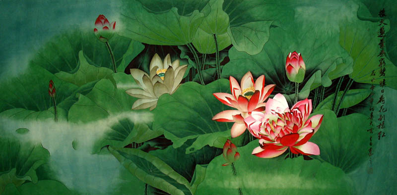 Chinese painting and feng shui chinese painting blog lotus chinese painting mightylinksfo