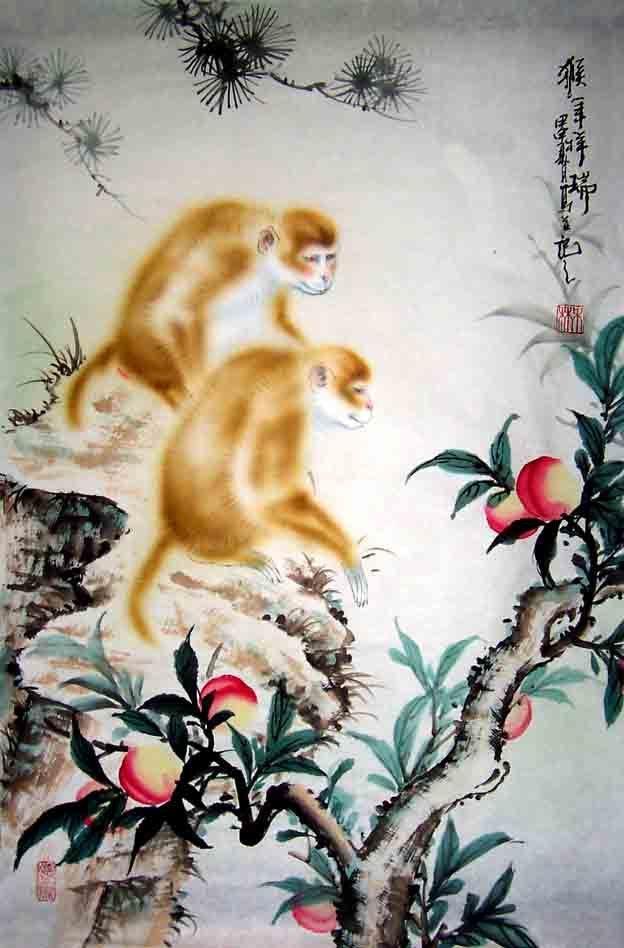 Chinese Animals-Monkey Painting
