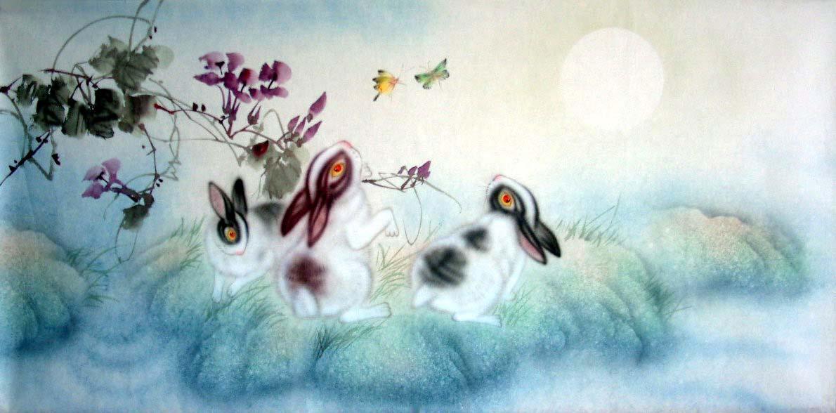 Chinese Animals-Rabbit Painting