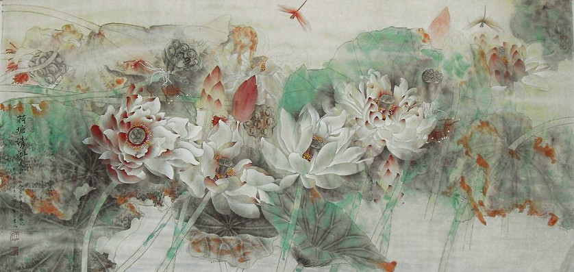 The Cultural Meaning Of Lotus Chinese Painting Blog