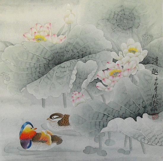 Mandarin Dark - Chinese Painting