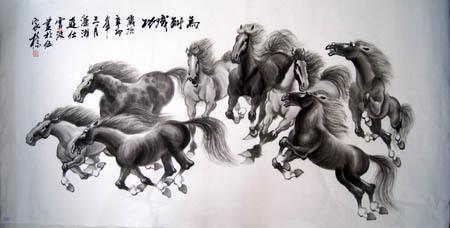 Chinese Animals-Horse Painting
