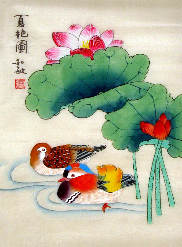 Chinese Painting: Mandarin Duck - Chinese Painting ...