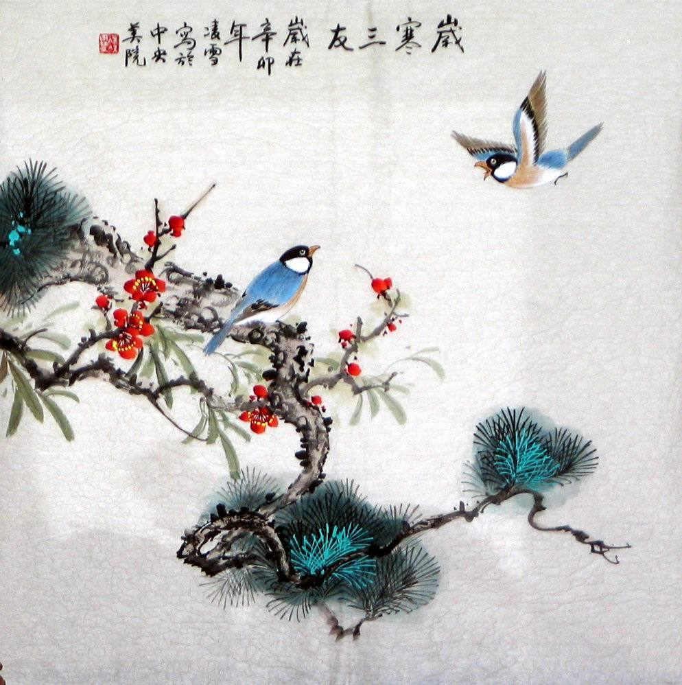 Birds&Plum&Pine&Bamboo - Chinese Painting