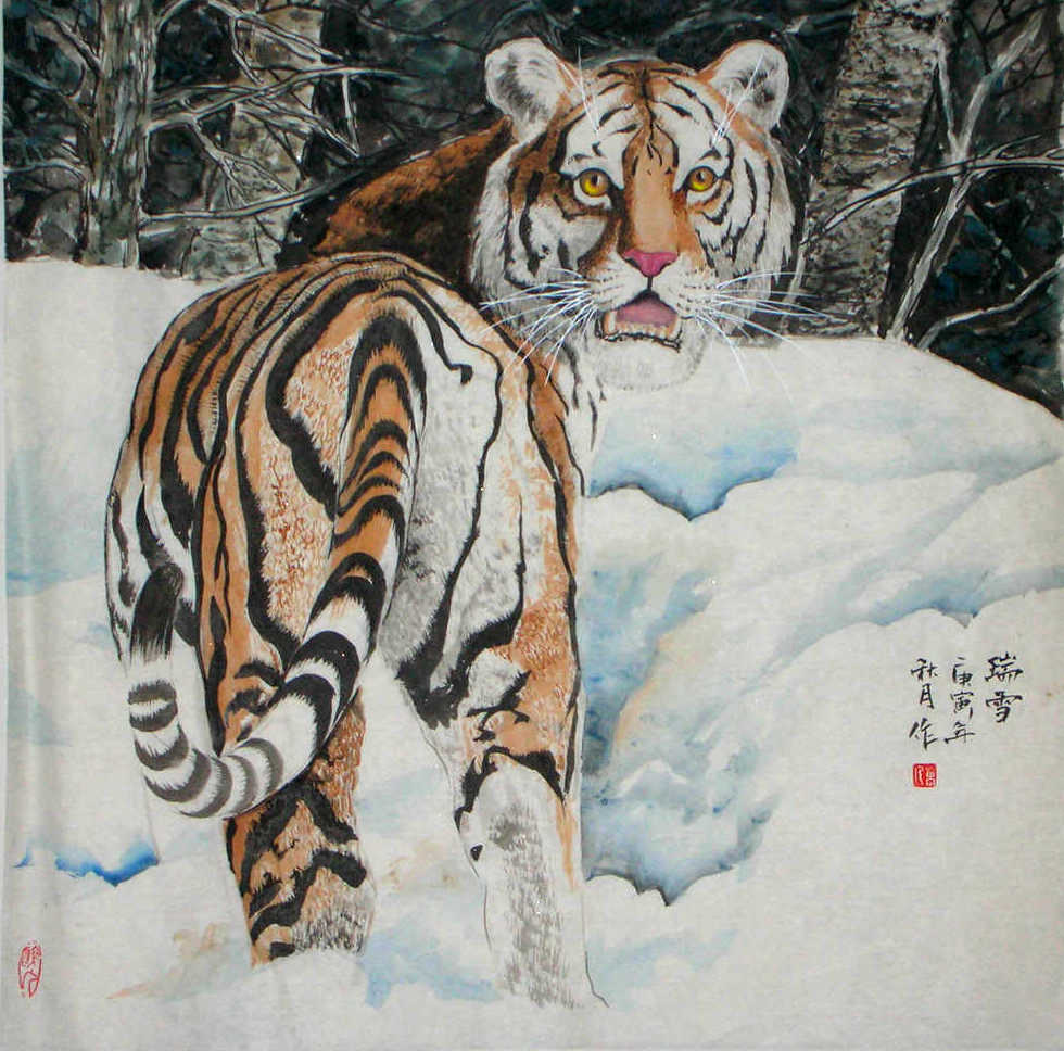 Chinese Tiger In Painting And Its Symbolic Meaning Chinese
