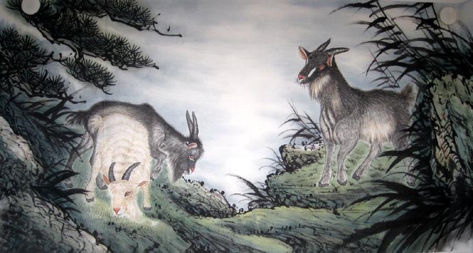 Chinese Animals-Sheep Painting