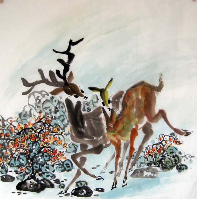 Deer - Chinese Painting