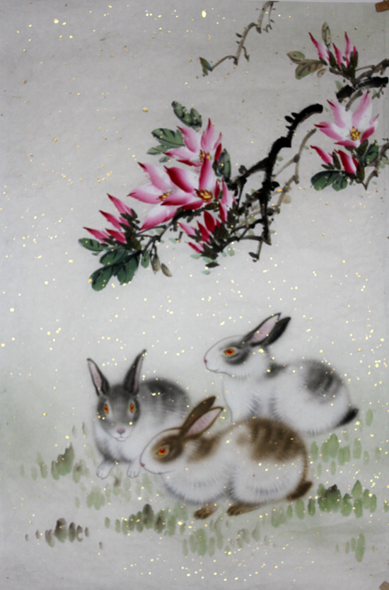 Chinese Rabbit Painting