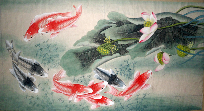 Fish&Lotus - Chinese Painting