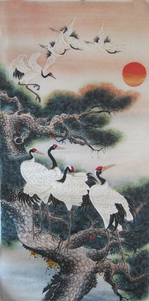 Crane In Chinese Painting Chinese Painting Blog