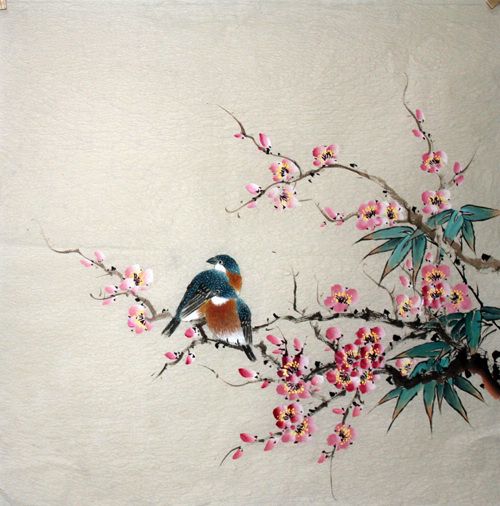 Peinture chinoise p jaros y flores pintura china - Rosas chinas ...
