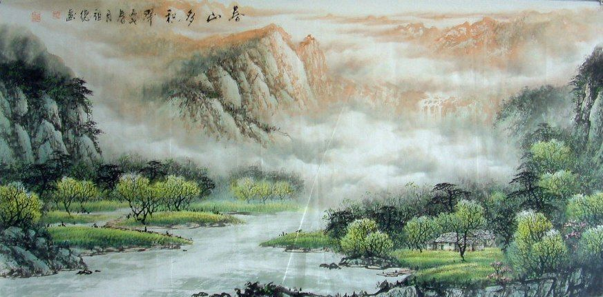 Waterfall-Chinese Painting