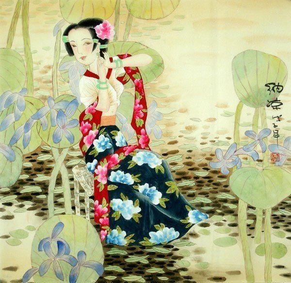Beautiful Lady - Chinese Painting